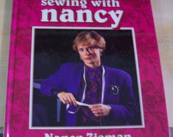 AF0392 Vintage Book The Best of SEWING with NANCY, Nancy Zieman, 1993, hard back Used