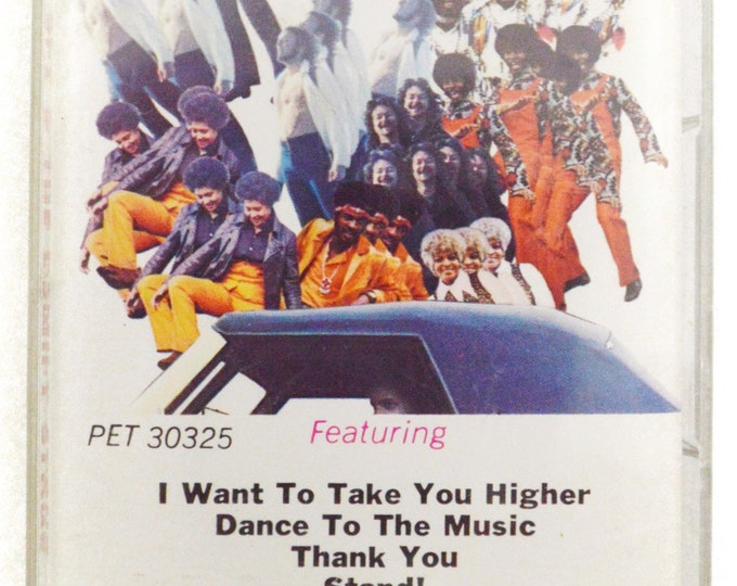 Vintage 80s Sly & The Family Stone Greatest Hits Funk Album Cassette Tape