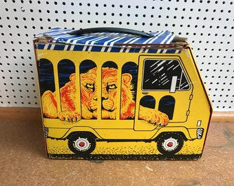 1978 Rare Lion in Circus Truck King Seeley Thermos Lunch Box