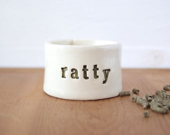 Ratty Rat Bowl. Very Small Bowl For Very Small Companions.  In Green.