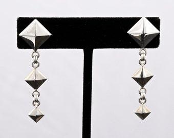 Geo4 - Earrings - Sterling Silver
