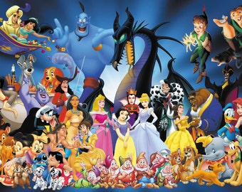 Disney Characters Wall Mural