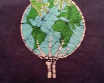 Grateful Dead Save the earth hand made batik.