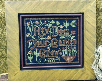 1/2 Price How Does Your Garden Grow by Carriage House Samplings Counted Cross Stitch Pattern/Chart