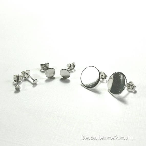 Polished Sterling Dot Post Earrings in 3 Sizes