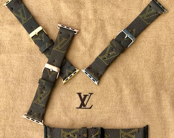Authentic Re-purposed Handmade Louis Vuitton, LV Apple Watch Band Series 1 2 3 - 38 mm, 42 mm Valentine's Day special from Benito