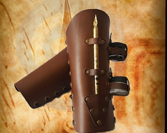 Leather Scribe Bracers