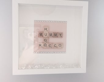 Personalised Family Scrabble Picture