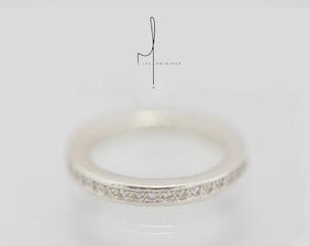 Rosie ring, silver ring, zircons ring, 925 silver ring, boho chic ring, anniversary gift