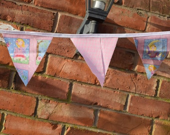 Pink Fairy Bunting, Fairies Bunting, Nursery Decor, Girls Bunting, Pink Bunting, Handmade Bunting, Handmade Pink Fairy Bunting