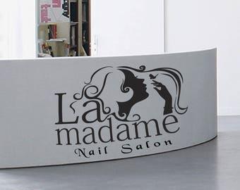 Nail Salon Wall Decal, Manicure Wall Decal, Nail Salon Wall Sticker, Nails Manicure Wall Decor, Beauty Salon Wall Art Decoration  se017