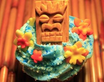 Fondant Cupcake Toppers - Tiki
