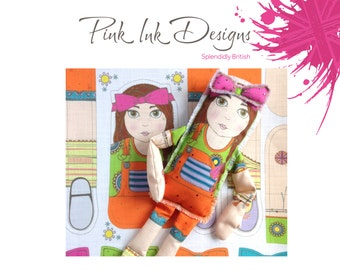 Rag Doll pattern to stitch and make your own rag doll.