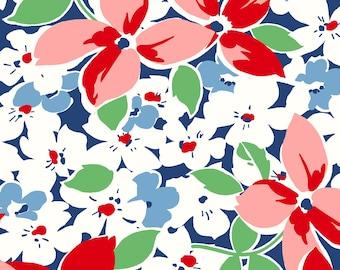 Hi-De-Ho Large Floral - Navy 9135-N by Maywood Studio Cotton Fabric Yardage