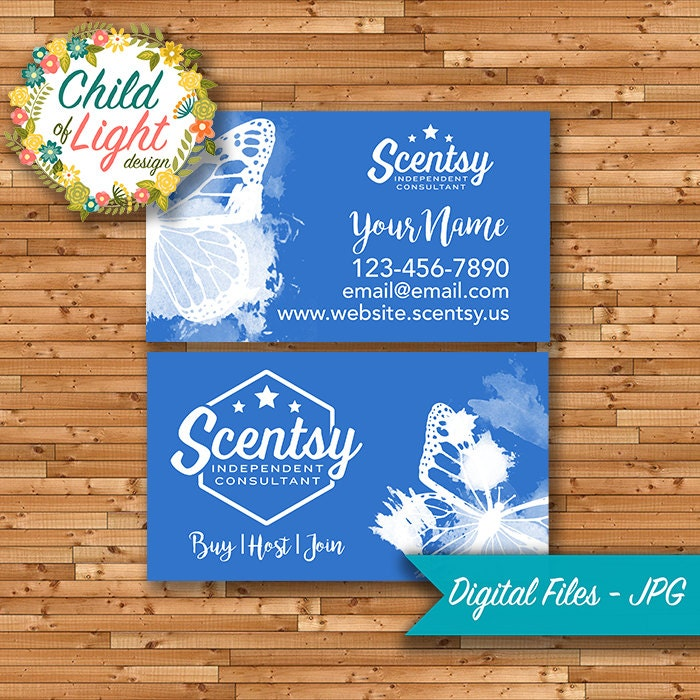 Authorized Scentsy Vendor Business Cards Custom Business