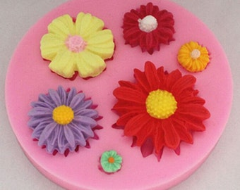 Flowers silicone mold