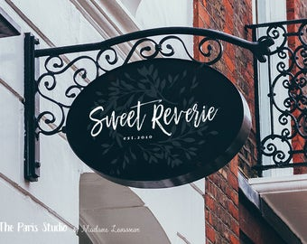 custom logo design watercolor floral logo restaurant logo boutique logo design wordpress website logo blog logo photography logo 標誌設計 餐廳標誌設計
