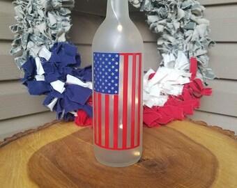 American Flag Bottle