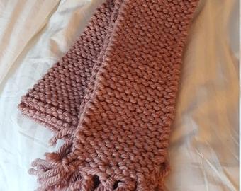 Hand-Knitted Custom Scarf