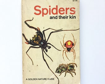 Vintage Golden Nature Guide- Spiders and Their Kin / Book on Arachnids / Vintage Golden Guide / Field Guide / Homeschool Book / Biology