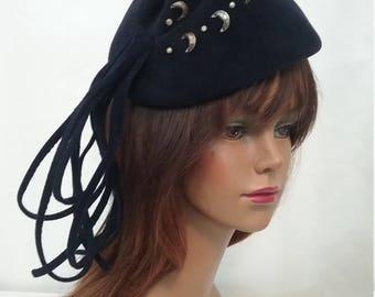 Avant Garde Navy Wool Hat m111