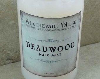 Deadwood - Hair Mist - Detangler & Styling Primer - Wild Honey, Golden Amber, Worn Brown Leather