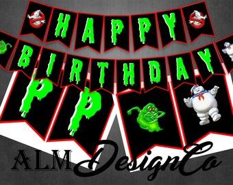 Ghostbuster Birthday Banner - Ghostbuster Banner - Ghostbuster Decorations - Ghostbuster Birthday Decorations - Ghostbuster Birthday