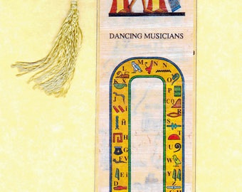 Dancing Musicians Egyptian papyrus bookmark. Beautiful, Egyptian Image. Great Gift for Egypt and Book Lovers!