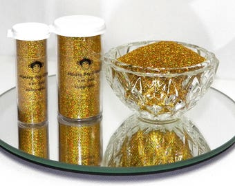 18K Gold Holographic Glitter Extra Fine 0.008 - Many Other Color Options - 2 Sizes - Visit My Store! B-85