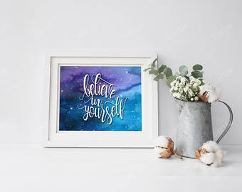 Believe in Yourself Wall Decor Art