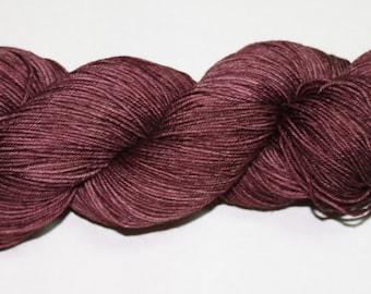 Dark Mauve Hand Dyed Sock Yarn