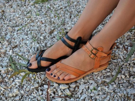 strap sandals Black Women Strappy Greek sandals Ancient Ankle Greek leather sandals sandals sandals Handmade leather sandals Uxwv5P5B