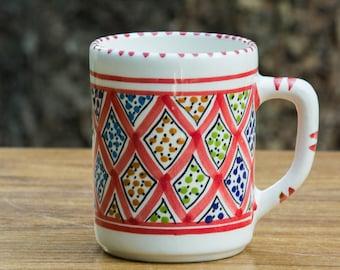 Geometric Red Coffee Mug