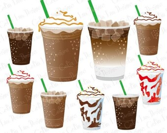 Coffee Clip Art, Coffee Clipart / Ice Coffee /Personal & commercial use / INSTANT DOWNLOAD (CG159)