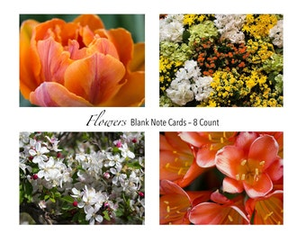 Flowers Photo Note Cards Set of 8