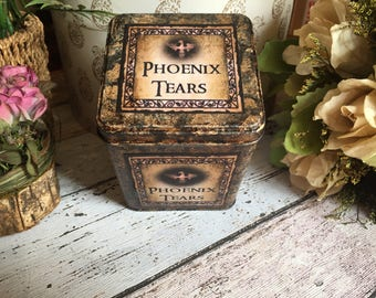 Harry Potter Phoenix Tears Tin. Harry Potter Keepsake Tin. Treasure Tin. Magic Potion Tin. Harry Potter Gift. Jewellery Tin. Storage Tin.