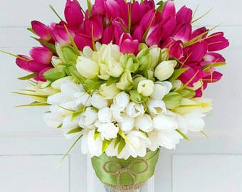 Spring Tulip Wreath for Door - Easter Wreath - Front Door Tulip Wreath - Flower Wreath for Door - Summer Tulip Wreath - Mothers Day Gifts