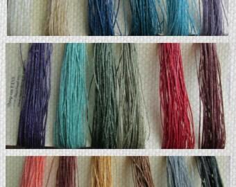 TWO PLY Pick SIX Waxed Irish Linen, Five 5 Yard or Five 10 Yard Cuts Two Ply, Linen Thread, Linen cord, Waxed Linen, 2 ply, Waxed Linen