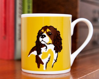 Cavalier King Charles Fine Bone China Dog Mug