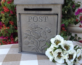 Galvanized Metal Post Box, Paintable in French Country Custom Colors