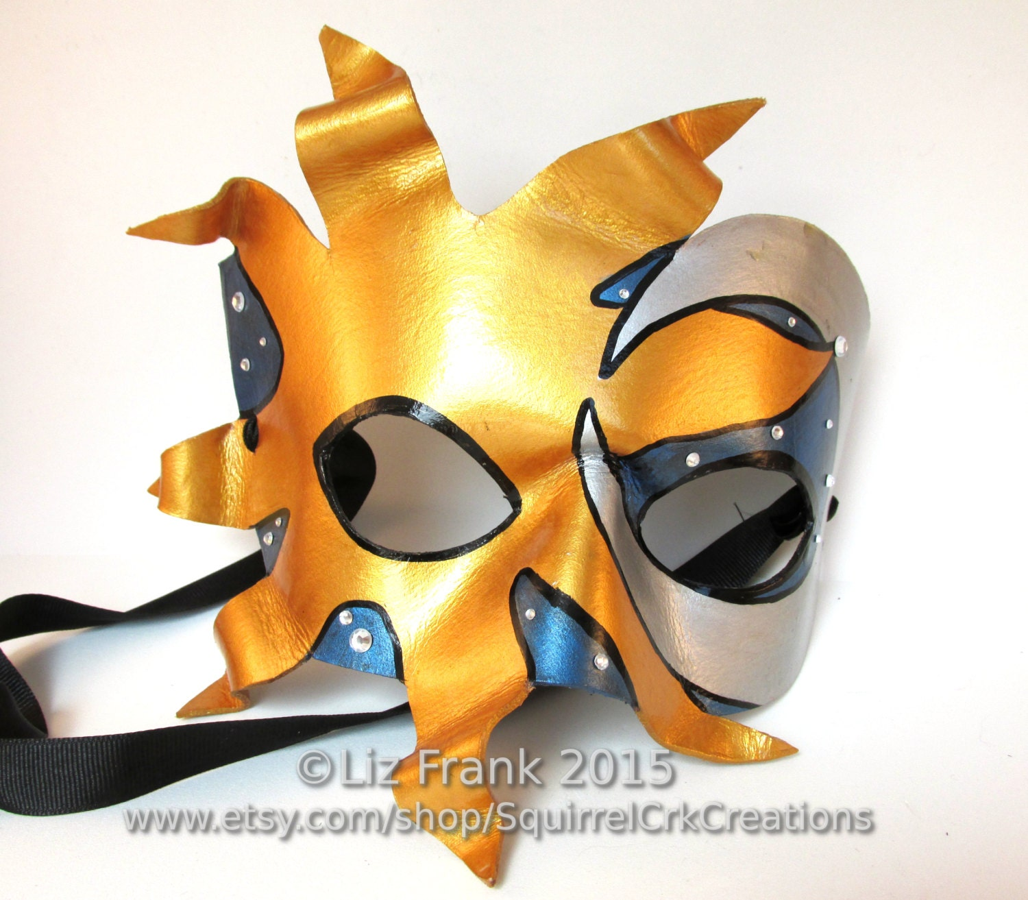 Sun and Moon mask Leather Mardi Gras Prom LARP cosplay