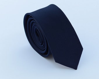 Navy Silk Ties. Navy Skinny Ties.Navy Wedding Ties. Groomsmen Ties.Matching Set. Gifts