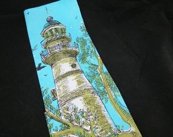 Key West Hand Print Tea Towel, Key West Light House, Free Shipping, 5PTT17