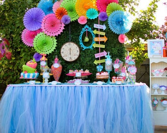Alice in WONDERLAND - COMPLETE - Mad Hatter Birthday- Girl Birthday Party - Mad Hatter Party - Alice In Wonderland Party