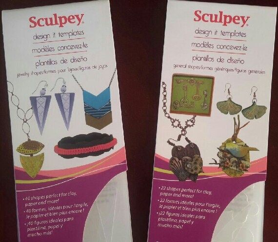 NEW, Design it templates collection by sculpey includes 40 jewelry shapes and 22 general shapes perfect for creating with clay, paper !