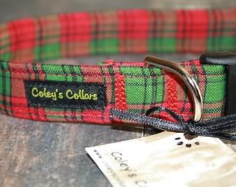 """Dog Collar """"The Christmas Plaid"""""""