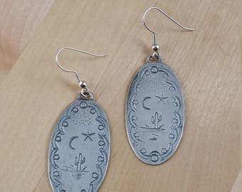 Sterling Silver Hand Stamped Earrings