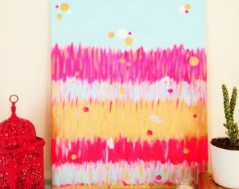 FLUORO FRINGE Original  Abstract Painting