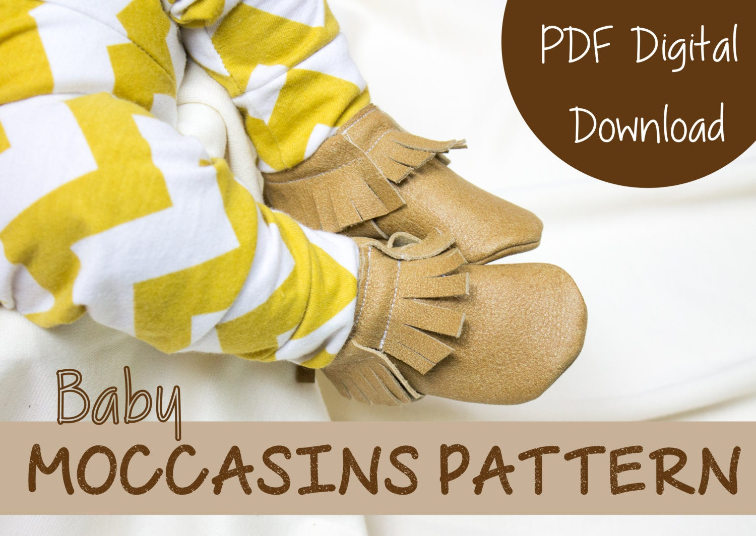 Leather Moccasin Sewing Pattern Baby Shoe Pattern Instant