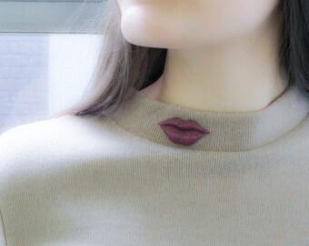 Lips - Magnetic Brooch